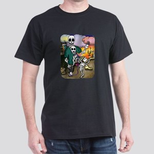 Day of the Dead Skeleton Dog & Friend T-Shirt
