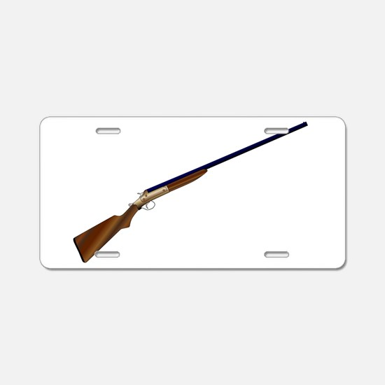 Shotgun Aluminum License Plate