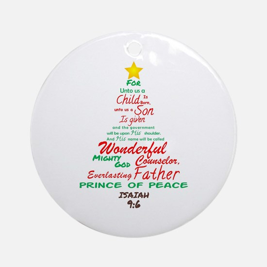 Isaiah 96 Round Ornament