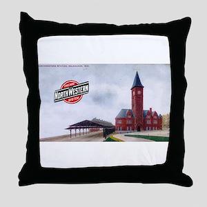 Milwaukee's Northwestern Depot Throw Pillow