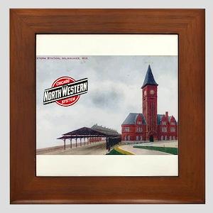 Milwaukee's Northwestern Depot Framed Tile