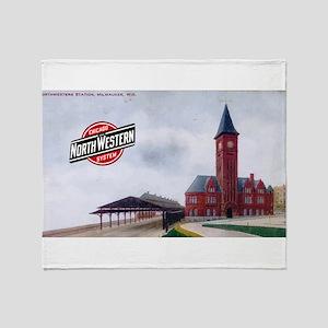 Milwaukee's Northwestern Depot Throw Blanket