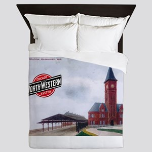 Milwaukee's Northwestern Depot Queen Duvet