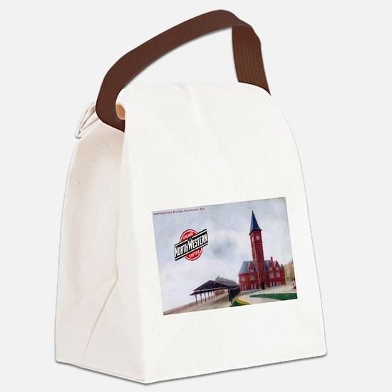 Milwaukee's Northwestern Depo Canvas Lunch Bag