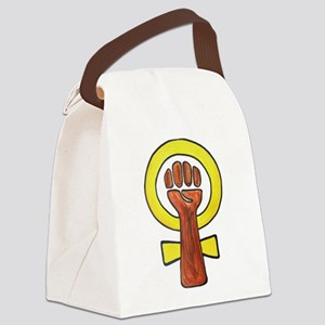 Strong Woman Canvas Lunch Bag