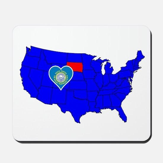 State of South Dakota Mousepad