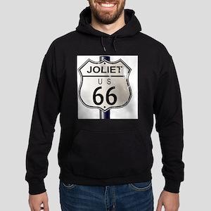 Joliet Route 66 Sign Hoodie (dark)