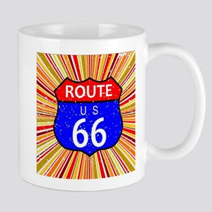Route 66 Retro Background Mugs