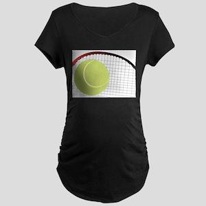 Tennis Ball and Racket Maternity T-Shirt