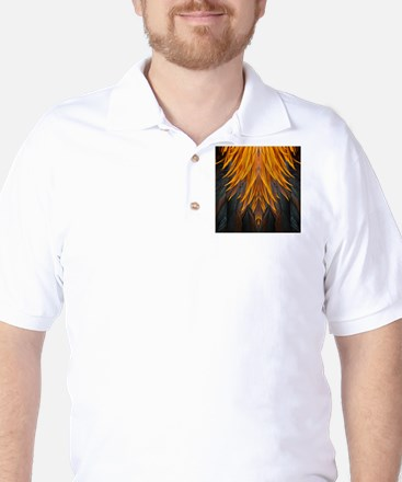 Abstract Feathers Golf Shirt