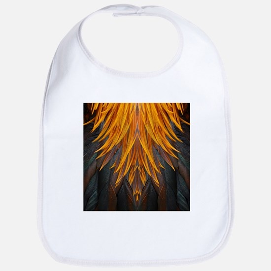 Abstract Feathers Bib