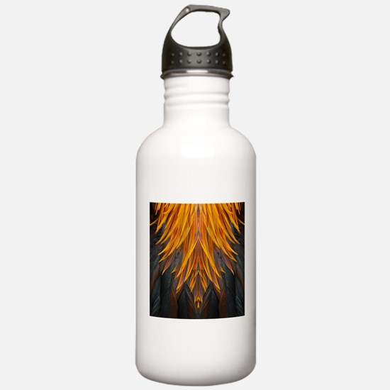 Abstract Feathers Water Bottle