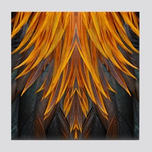 Abstract Feathers Tile Coaster