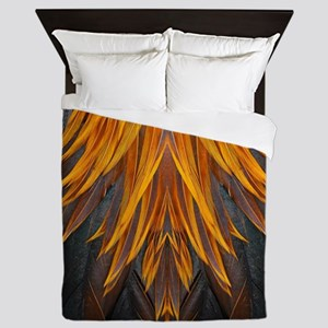 Abstract Feathers Queen Duvet