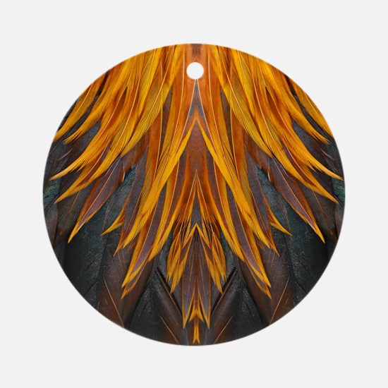 Abstract Feathers Round Ornament