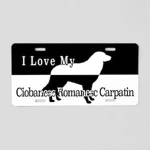 Ciabanesc Romanesc Carpatin Aluminum License Plate