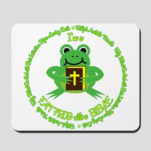 FAT FROG with a BIBLE Mousepad