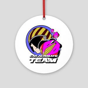 Car Acrobatic Team Round Ornament