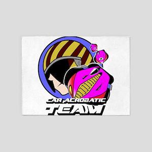 Car Acrobatic Team 5'x7'Area Rug