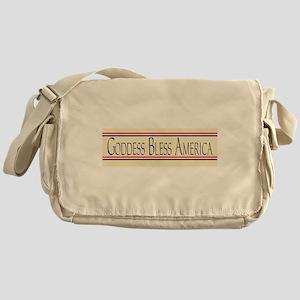 Goddess Bless America Messenger Bag