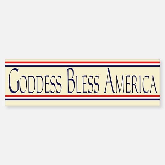 Goddess Bless America Sticker (Bumper)