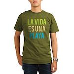 Life's a Beach Organic Men's T-Shirt (dark)
