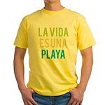 Life's a Beach Yellow T-Shirt