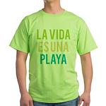 Life's a Beach Green T-Shirt