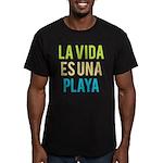 Life's a Beach Men's Fitted T-Shirt (dark)