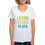 Life's a Beach Women's V-Neck T-Shirt