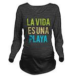 Life's a Beach Long Sleeve Maternity T-Shirt