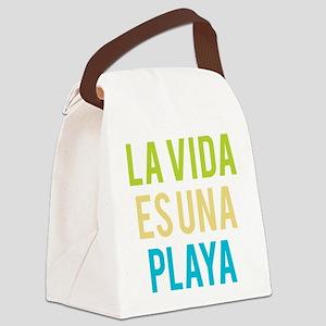 Life's a Beach Canvas Lunch Bag