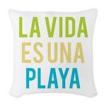 Life's a Beach Woven Throw Pillow
