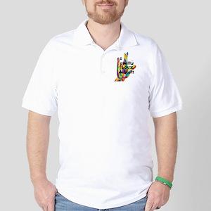 ASL I Really Love School Golf Shirt
