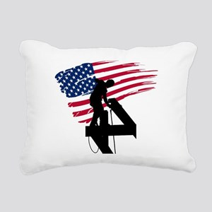 Ironworker Rectangular Canvas Pillow
