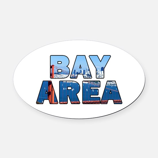 Bay Area Oval Car Magnet