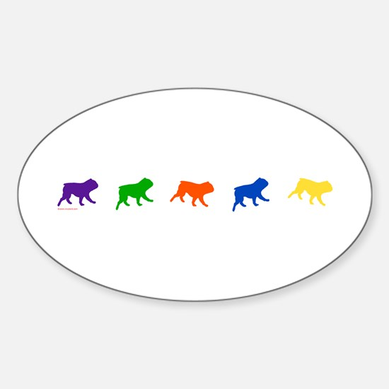 Running of the Bullies Oval Decal