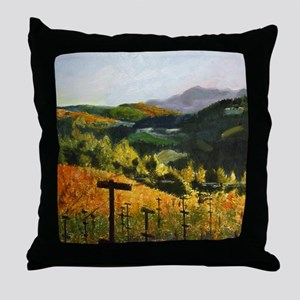 Coastal Sonoma Vineyard Throw Pillow