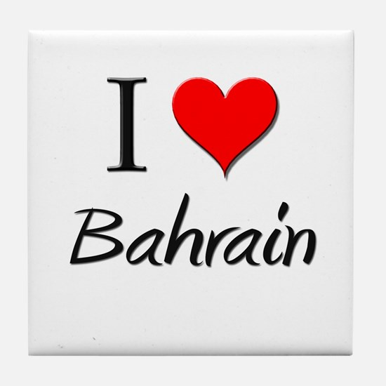 I Love Bahrain Tile Coaster