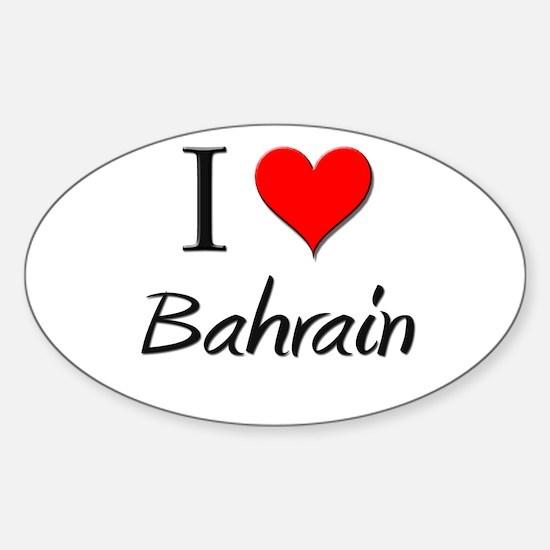 I Love Bahrain Oval Decal