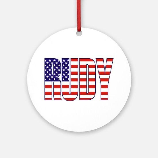 Rudy Giuliani Presidential Flag Ornament (Round)