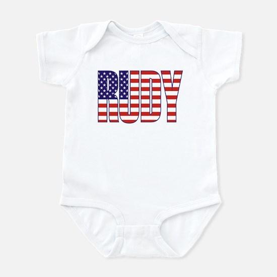 Rudy Giuliani Presidential Flag Infant Bodysuit