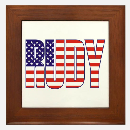 Rudy Giuliani Presidential Flag Framed Tile