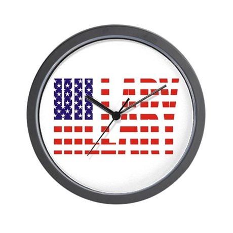 Hillary Clinton Flag President Wall Clock