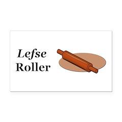 Lefse Roller Rectangle Car Magnet