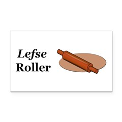 Lefse Roller Rectangle Car Magnet