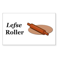 Lefse Roller Sticker (Rectangle 10 pk)