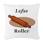 Lefse Roller Woven Throw Pillow