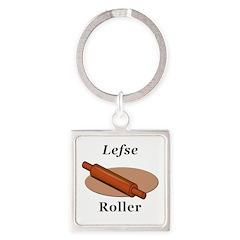 Lefse Roller Square Keychain