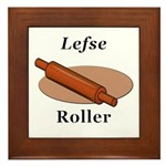 Lefse Roller Framed Tile